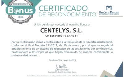 CERTIFICADO DE RECOCIMIENTO – CERO ACCIDENTES